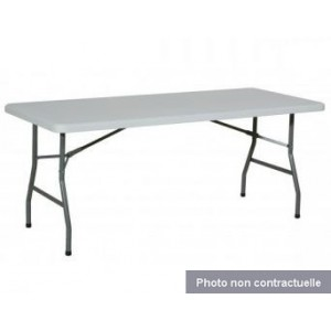 Location Table pliante 0,75 x 1,52 m - 6 places