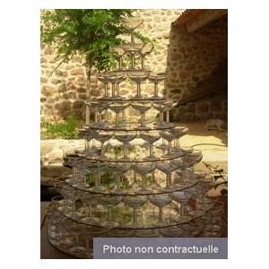 Location Fontaine à champagne avec 75 coupes